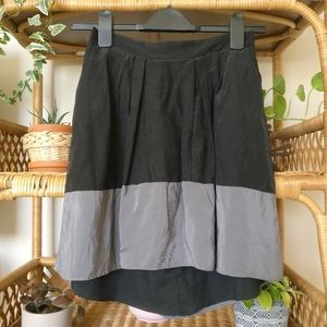 silk colorblock skirt